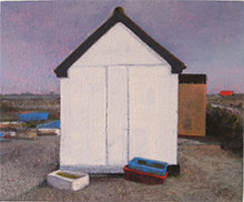 oil on linen - Ace shed on the beach dungeness
