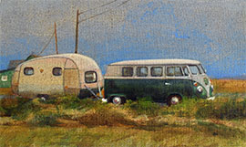 Painting of a Combi camper van