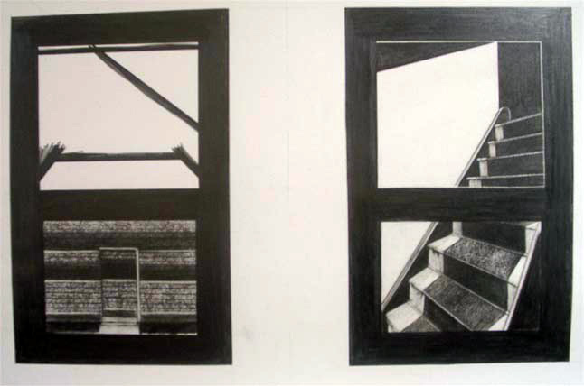 Windows and stairs drawing