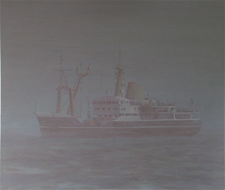 Largeghost ship oil painting