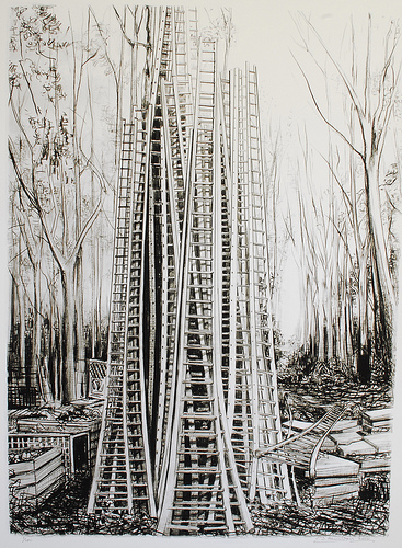 large ladders fine art print limited edition print quality paper