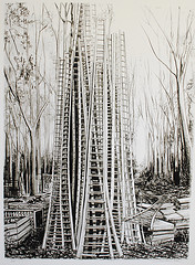 Ladders limited edition print
