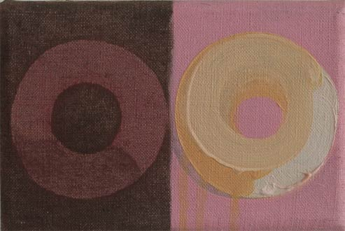 Doughnuts diptych oil Painting on linen