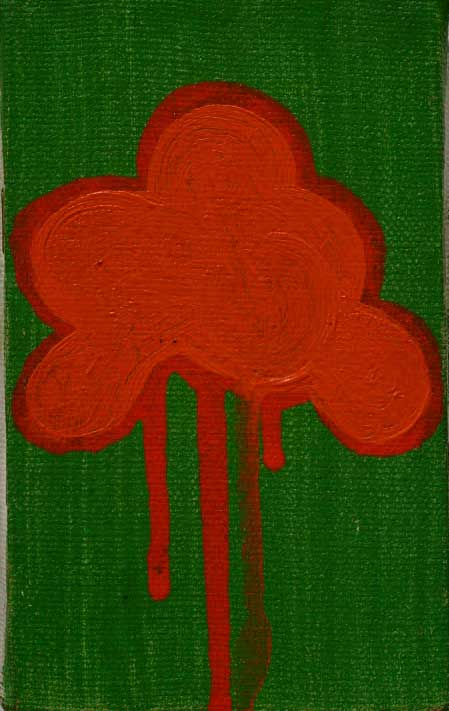 Oil Painting Shamrock on Canvas Stretcher