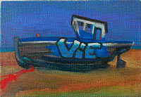 oil on linen beached boat painting dungeness